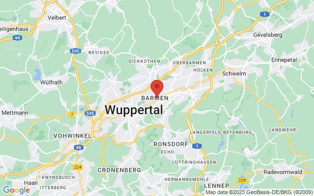 Karte Wuppertal
