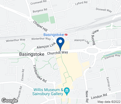 Map of 15 Old Basing Mall in Basingstoke