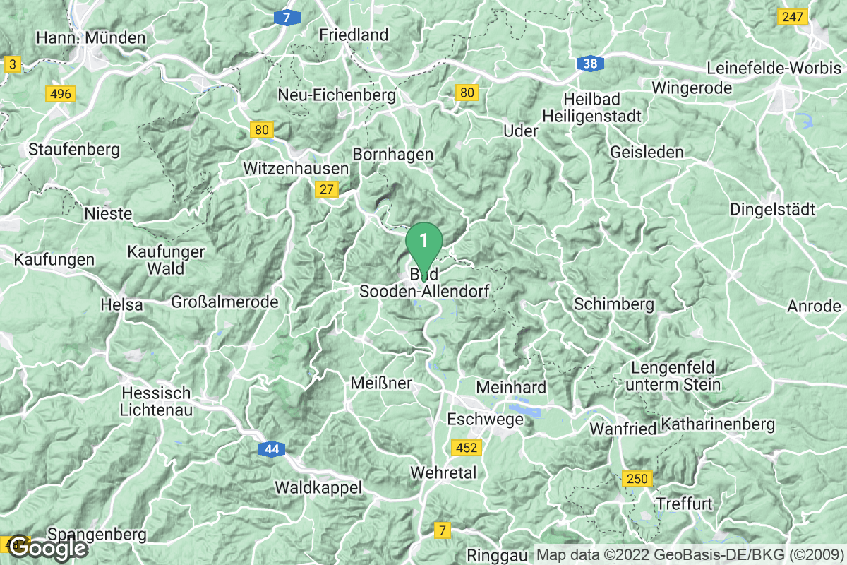 Google Map of Bad Sooden-Allendorf