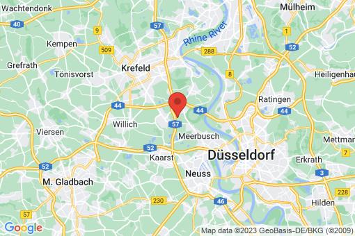 Karte Meerbusch