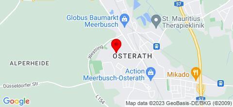Google Map für Gästehaus Theißen