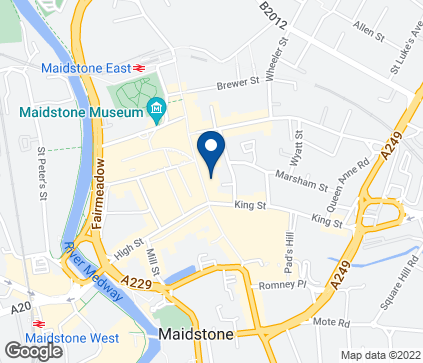 Map of 56-62 King Street in Maidstone