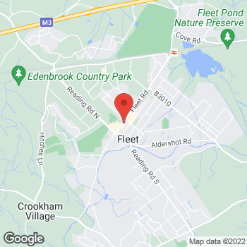 Map of The Co-operative Funeralcare at 287 Fleet Road, Fleet, Hampshire GU51 3BT