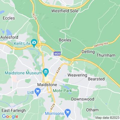 Penenden Heath Recreation Ground Location