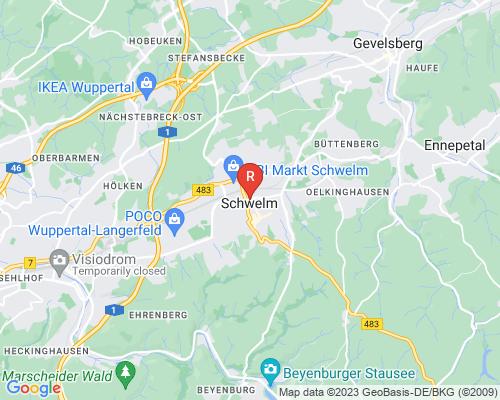 Google Karte von Rohrreinigung Schwelm