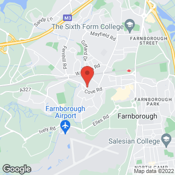 Map of Bargain Booze Farnborough at Best-one with Bargain Booze, Farnborough, Surrey GU14 0HS