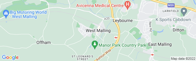 Map Of West Malling