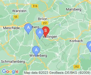 Karte für Sommerrodelbahn Willingen