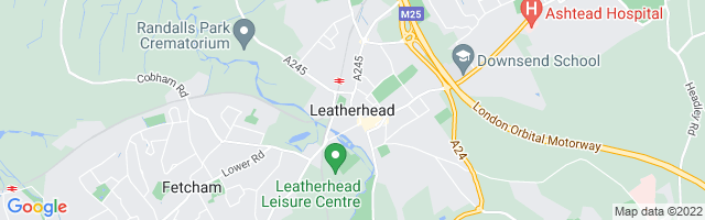Map Of Leatherhead