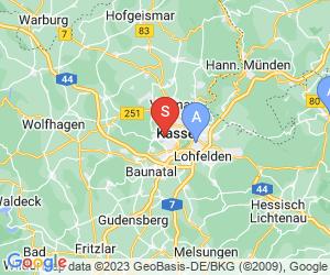 Karte für DAV Kletterzentrum Nordhessen