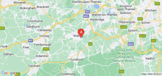 Lokacija Stan za prodaju u Surrey, Woking, GU