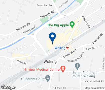 Map of Unit 8-10 Wolsey Walk in Woking