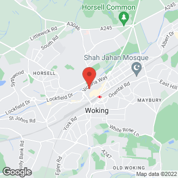 Map of wilko Woking at Units 15-16 Bandstand Mall, Woking,  GU21 6GH