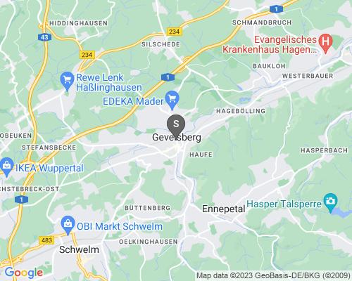 Google Karte von Schlüsseldienst Gevelsberg
