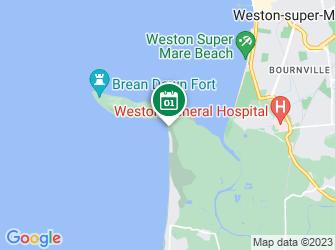 A static map of Family Seashore Safari - Brean Down Beach