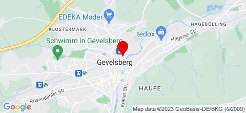 Google Map für Monteurunterkunft Skambraks