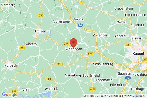 Karte Wolfhagen