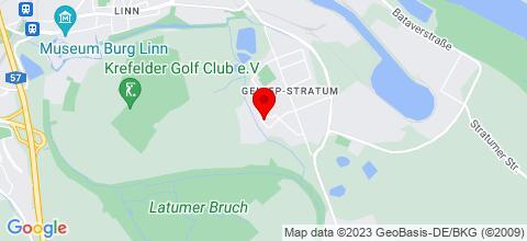 Google Map für Gemütliche Monteurwohnung 67qm in Krefeld Stratum