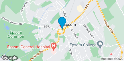Map of 40 Ashley Centre in Epsom