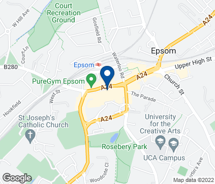 Map of 57 Ashley Centre in Epsom