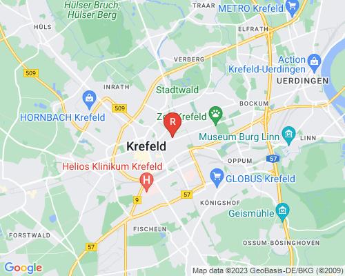Google Karte von Rohrreinigung Krefeld