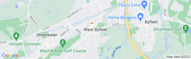 Map Of West Byfleet