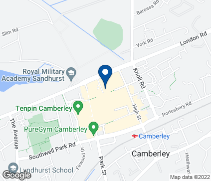 Map of 26-30 Obelisk Way in Camberley