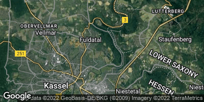 Google Map of Wolfsanger / Hasenhecke