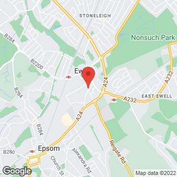 Map of Welcome Ewell, High Street at 82-88 High Street, Epsom, Surrey KT17 1RE