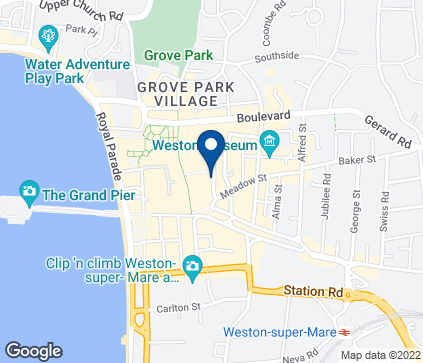 Map of 52-56 High Street in Weston Super Mare
