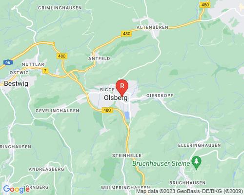 Google Karte von Rohrreinigung Olsberg