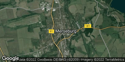 Google Map of Merseburg