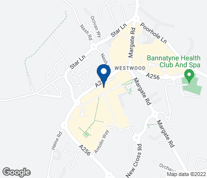 Map of Westwood Cross Retail Park in Broadstairs