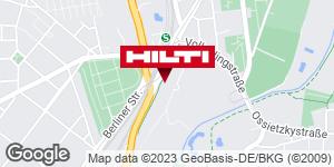 Wegbeschreibung zu Hilti Store Leipzig