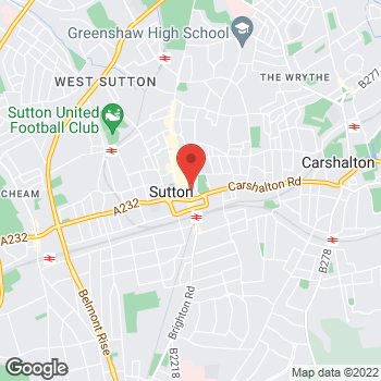 Map of wilko Sutton-In-Surrey at 78-82 High Street, Sutton,  SM1 1EZ