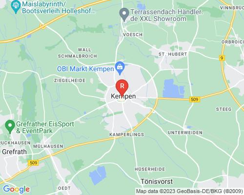 Google Karte von Rohrreinigung Kempen