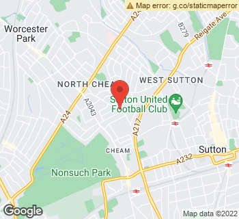 Map of Christine's at 116 Church Hill Road, Sutton, Surrey SM3 8NA
