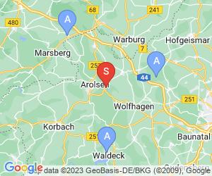 Karte für Golf- und Landclub Bad Arolsen e.V.