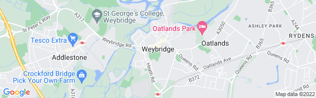 Map Of Weybridge