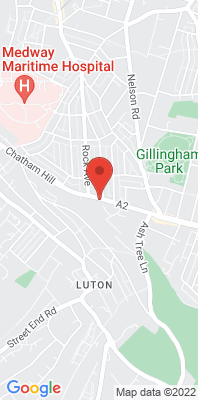 Map showing the location of the Chatham Roadside monitoring site