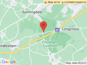 A static map of Chilly Chobham Common
