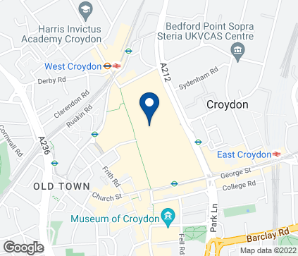 Map of 12-18 Whitgift Centre in Croydon