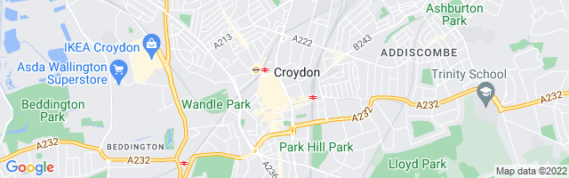 Map Of Croydon