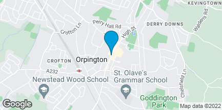 Map of 224/226 High Street in Orpington