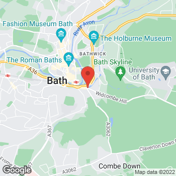 Map of The Co-operative Food Bath, Widcombe Hill at Widcombe Hill, Bath, Somerset BA2 6AA