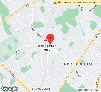 Map of The Conservatory Florist at 126 Central Road, Worcester Park, Surrey KT4 8HT