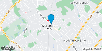 Map of 147 Central Road in Worcester Park