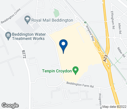 Map of Croydon Valley Retail Park in Croydon