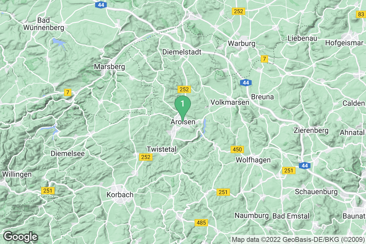Google Map of Bad Arolsen