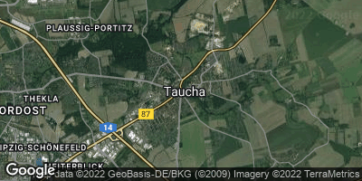 Google Map of Taucha bei Leipzig